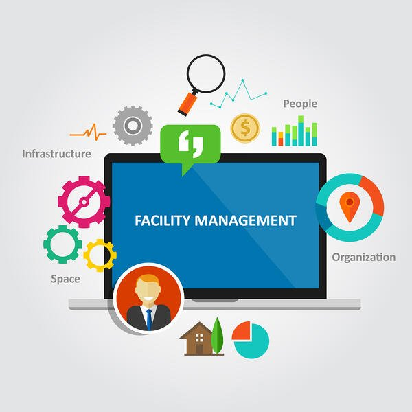 Facility management concept illustration